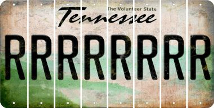 Tennessee R Cut License Plate Strips (Set of 8) LPS-TN1-018