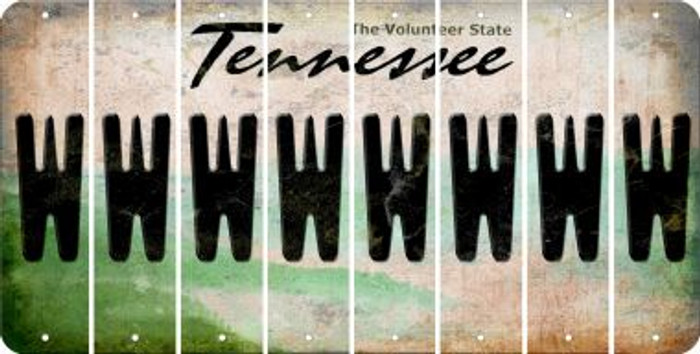 Tennessee W Cut License Plate Strips (Set of 8) LPS-TN1-023