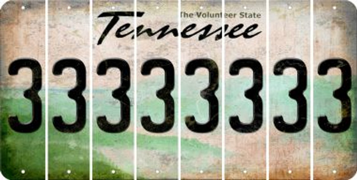 Tennessee 3 Cut License Plate Strips (Set of 8) LPS-TN1-030