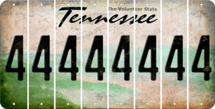 Tennessee 4 Cut License Plate Strips (Set of 8) LPS-TN1-031