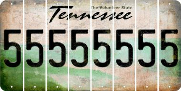 Tennessee 5 Cut License Plate Strips (Set of 8) LPS-TN1-032