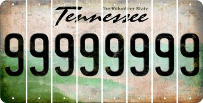 Tennessee 9 Cut License Plate Strips (Set of 8) LPS-TN1-036