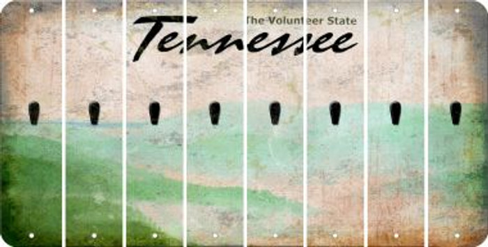 Tennessee APOSTROPHE Cut License Plate Strips (Set of 8) LPS-TN1-038