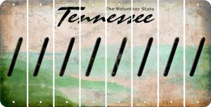 Tennessee FORWARD SLASH Cut License Plate Strips (Set of 8) LPS-TN1-042
