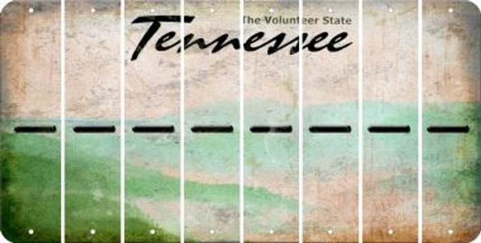 Tennessee HYPHEN Cut License Plate Strips (Set of 8) LPS-TN1-044