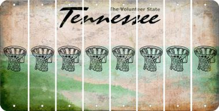 Tennessee BASKETBALL HOOP Cut License Plate Strips (Set of 8) LPS-TN1-058