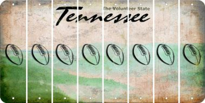 Tennessee FOOTBALL Cut License Plate Strips (Set of 8) LPS-TN1-060