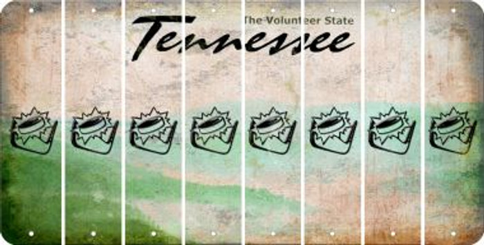 Tennessee HOCKEY Cut License Plate Strips (Set of 8) LPS-TN1-062