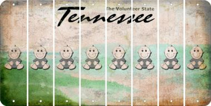 Tennessee BABY BOY Cut License Plate Strips (Set of 8) LPS-TN1-066