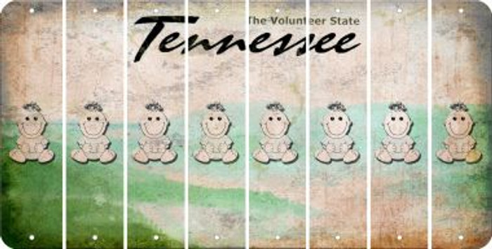 Tennessee BABY GIRL Cut License Plate Strips (Set of 8) LPS-TN1-067