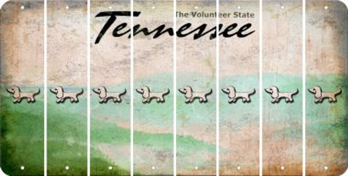 Tennessee DOG Cut License Plate Strips (Set of 8) LPS-TN1-073