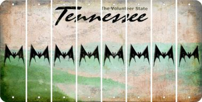 Tennessee BAT Cut License Plate Strips (Set of 8) LPS-TN1-074