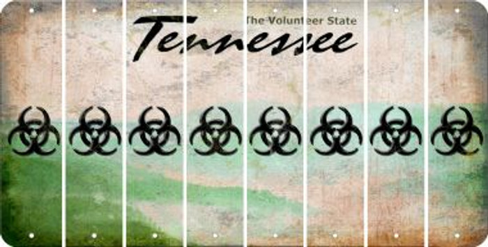 Tennessee BIO HAZARD Cut License Plate Strips (Set of 8) LPS-TN1-084