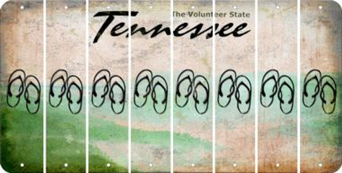 Tennessee FLIP FLOPS Cut License Plate Strips (Set of 8) LPS-TN1-085