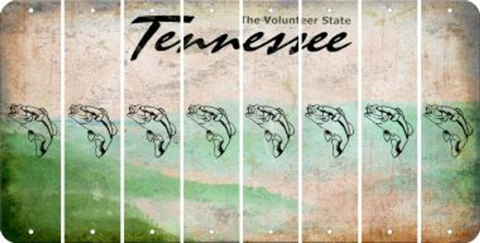 Tennessee FISH Cut License Plate Strips (Set of 8) LPS-TN1-086