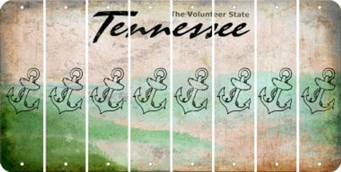 Tennessee ANCHOR Cut License Plate Strips (Set of 8) LPS-TN1-093