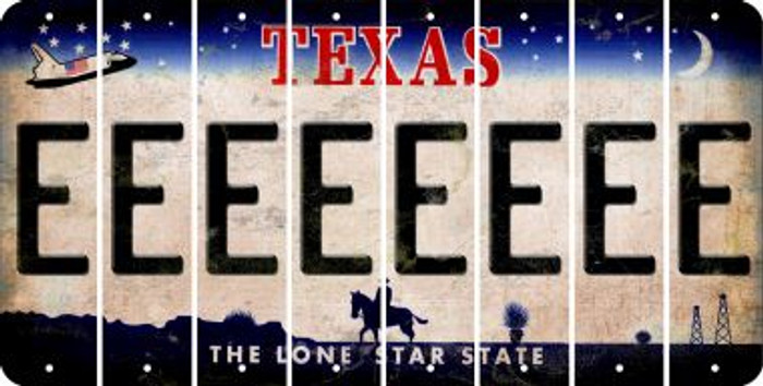 Texas E Cut License Plate Strips (Set of 8) LPS-TX1-005