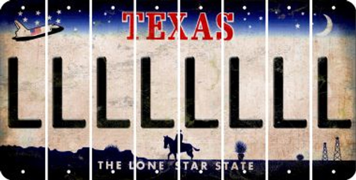 Texas L Cut License Plate Strips (Set of 8) LPS-TX1-012