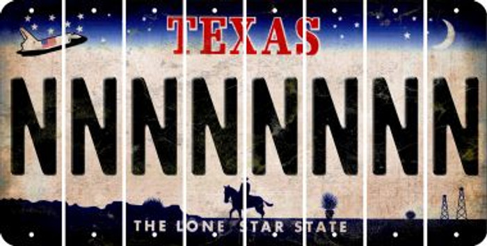 Texas N Cut License Plate Strips (Set of 8) LPS-TX1-014