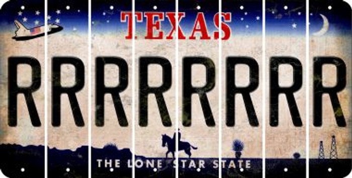 Texas R Cut License Plate Strips (Set of 8) LPS-TX1-018