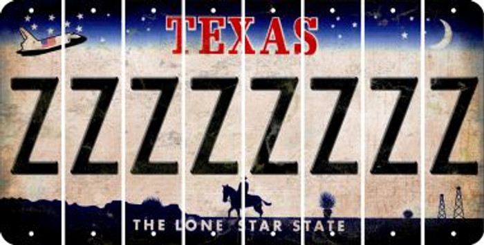 Texas Z Cut License Plate Strips (Set of 8) LPS-TX1-026