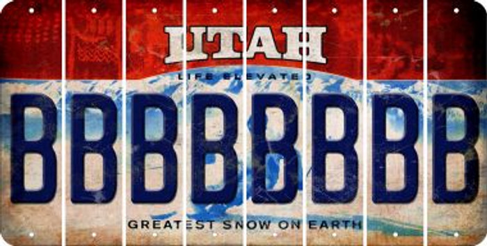 Utah B Cut License Plate Strips (Set of 8) LPS-UT1-002