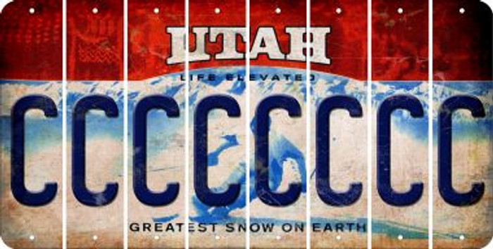 Utah C Cut License Plate Strips (Set of 8) LPS-UT1-003