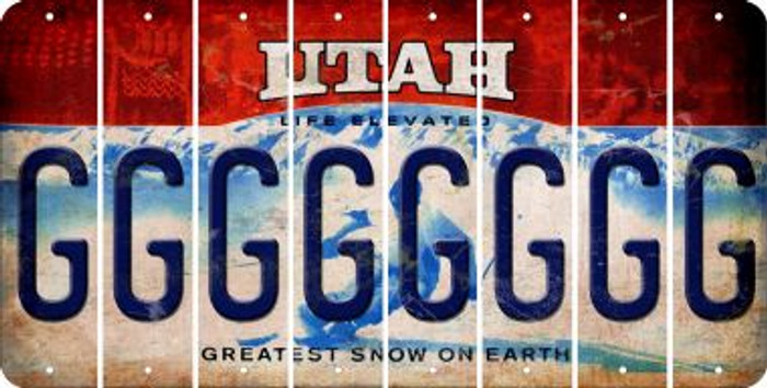 Utah G Cut License Plate Strips (Set of 8) LPS-UT1-007