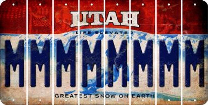 Utah M Cut License Plate Strips (Set of 8) LPS-UT1-013