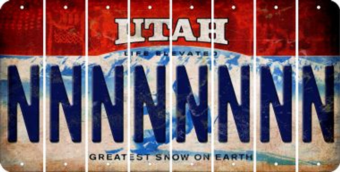 Utah N Cut License Plate Strips (Set of 8) LPS-UT1-014