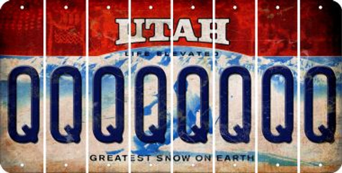Utah Q Cut License Plate Strips (Set of 8) LPS-UT1-017