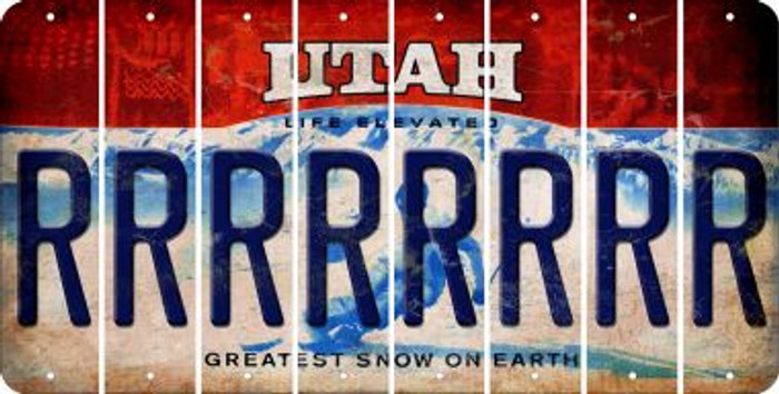 Utah R Cut License Plate Strips (Set of 8) LPS-UT1-018