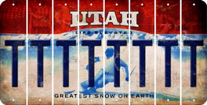 Utah T Cut License Plate Strips (Set of 8) LPS-UT1-020