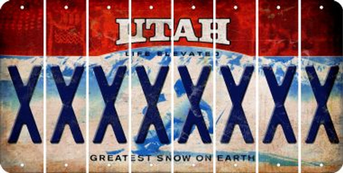 Utah X Cut License Plate Strips (Set of 8) LPS-UT1-024