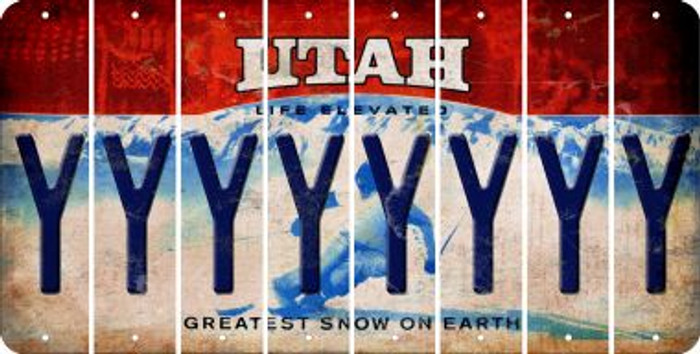 Utah Y Cut License Plate Strips (Set of 8) LPS-UT1-025