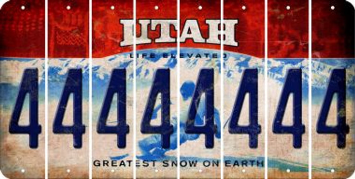 Utah 4 Cut License Plate Strips (Set of 8) LPS-UT1-031
