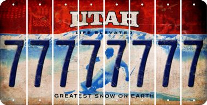 Utah 7 Cut License Plate Strips (Set of 8) LPS-UT1-034