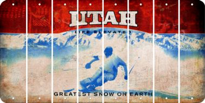 Utah BLANK Cut License Plate Strips (Set of 8) LPS-UT1-037