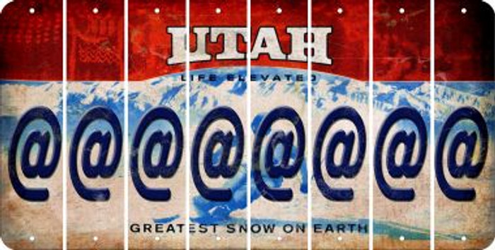 Utah ASPERAND Cut License Plate Strips (Set of 8) LPS-UT1-039