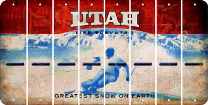 Utah HYPHEN Cut License Plate Strips (Set of 8) LPS-UT1-044