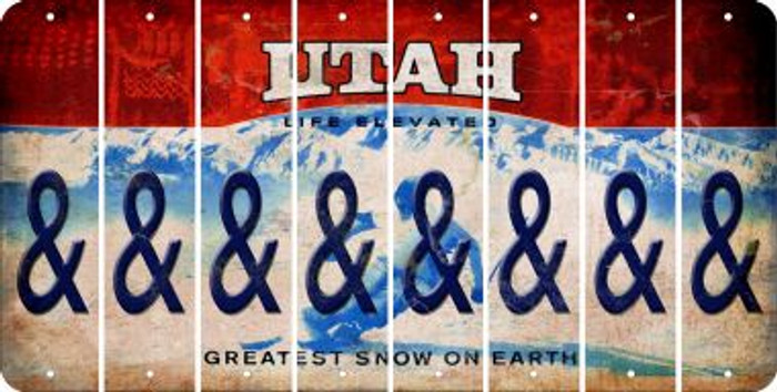 Utah AMPERSAND Cut License Plate Strips (Set of 8) LPS-UT1-049