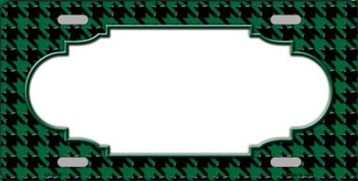 Green Black Houndstooth With Scallop Center Wholesale Metal Novelty License Plate LP-4590