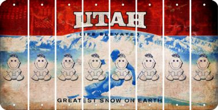 Utah BABY GIRL Cut License Plate Strips (Set of 8) LPS-UT1-067