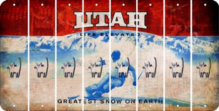 Utah CAT Cut License Plate Strips (Set of 8) LPS-UT1-072