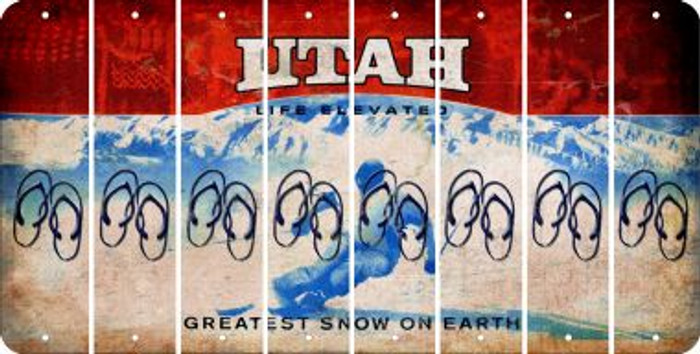 Utah FLIP FLOPS Cut License Plate Strips (Set of 8) LPS-UT1-085