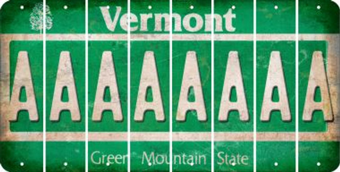 Vermont A Cut License Plate Strips (Set of 8) LPS-VT1-001