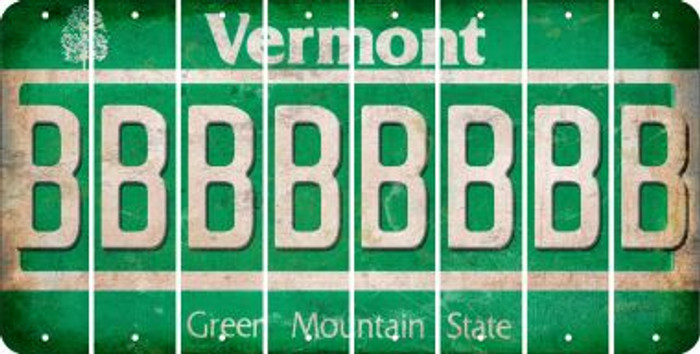Vermont B Cut License Plate Strips (Set of 8) LPS-VT1-002