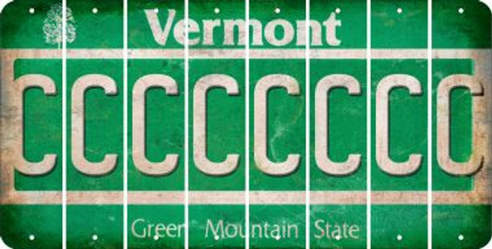 Vermont C Cut License Plate Strips (Set of 8) LPS-VT1-003