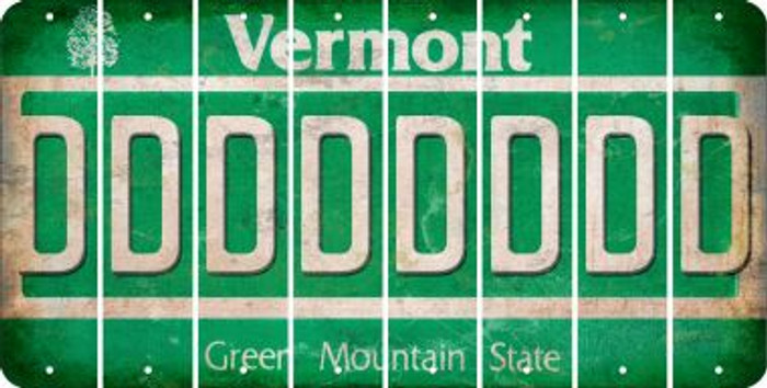 Vermont D Cut License Plate Strips (Set of 8) LPS-VT1-004