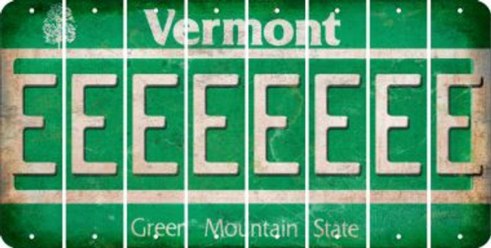 Vermont E Cut License Plate Strips (Set of 8) LPS-VT1-005